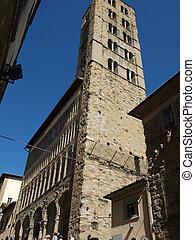 Arezzo - Romanesque church of Santa Maria della Pieve