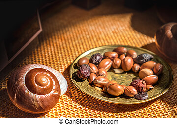 argan, 기름, 은 이다, 만든, 얼마 만큼, argan, 미친, -, argan, 과일, 유능한, 산화방지제, 치고는, 치유하는, 격노함, inflammations, 피부, 뻗기, 기호