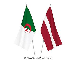 argelia, banderas, letonia
