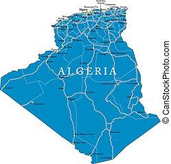 argelia, mapa