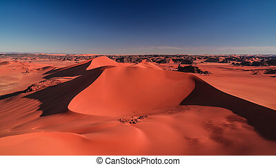 argelia, merzouga, parque, duna, estaño, ocaso, najjer,...