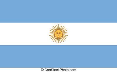 argentína, vektor, lobogó, ábra