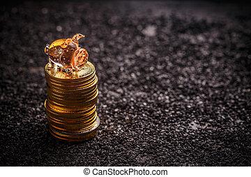 argent économie, concept