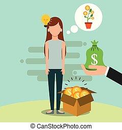 argent, économie, gens