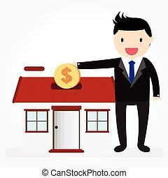 argent, économie, maison