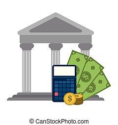 argent, économies, calculatrice