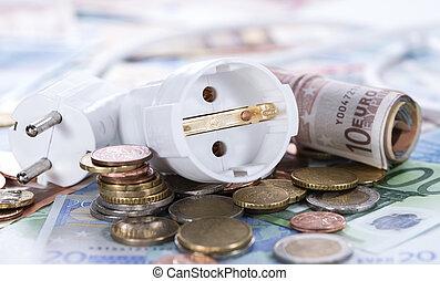 argent, Énergie,  concept, européen