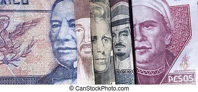 argent, étranger