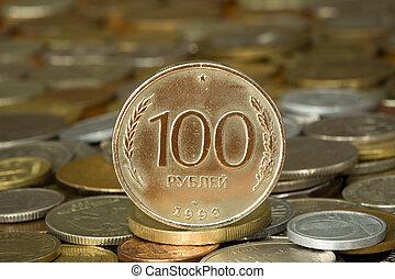 argent, 001, monnaie, rouble