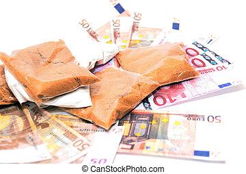 argent, 3, drogue