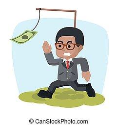 argent, africaine, motivé, homme affaires