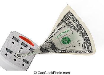 argent, aller, électrique, ligne.