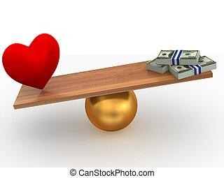 argent, amour, ou
