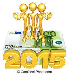 argent, année, pile, équipe