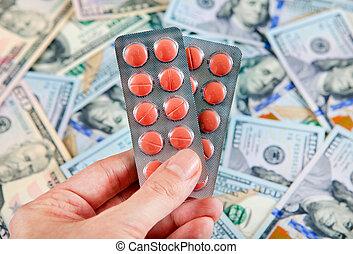 argent, approvisionnements médicaux