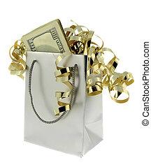 argent, argent, sac don