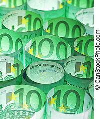 argent, arrière-plan vert