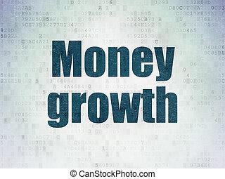 argent, banque, papier, croissance, fond, numérique, données, concept: