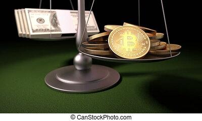argent, bitcoins, balances
