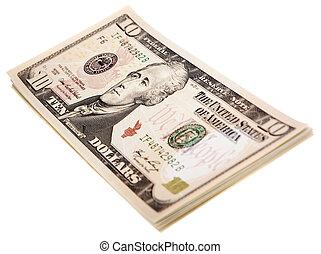 argent, blanc, isolé, fond