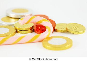 argent, bonbon, chocolat