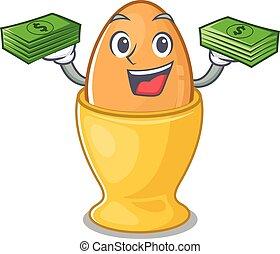 argent, caractère, mains, oeuf, riche, frais, tasse, avoir