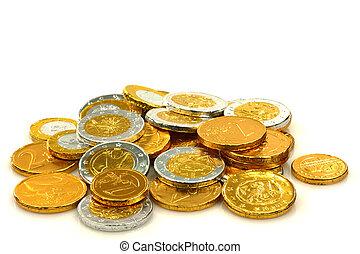 argent, chocolat
