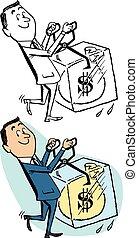 argent comptant dur froid