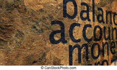 argent, compte, équilibre