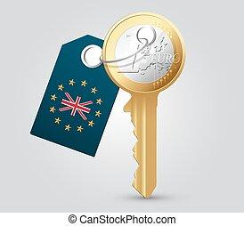 argent, concept, clã©, euro