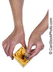 argent, concept, dernier, pension