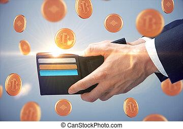 argent, concept, e-affaires