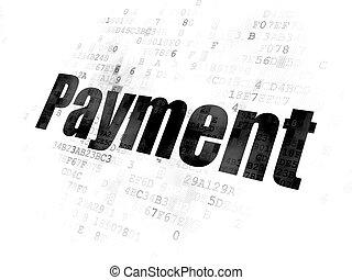 argent, concept:, paiement, fond, numérique
