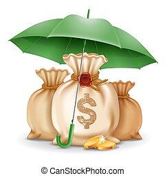 argent, concept, sécurité
