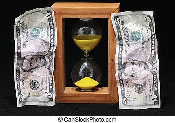 argent, concept, temps