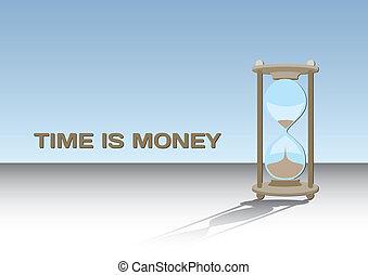 argent, concept, -, temps