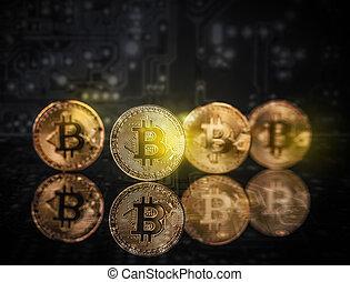 argent, concept, virtuel