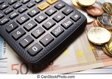 argent, concept, vue