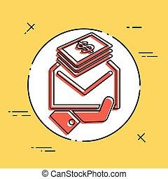 argent, contenir, enveloppe, (dollars)