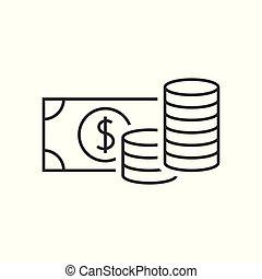 argent, contour, icône