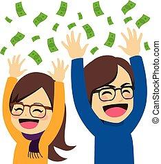 argent, couple, heureux