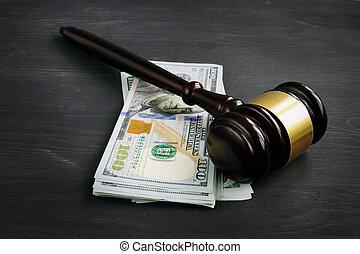 argent, court., pénalité, marteau, ou, bribe.