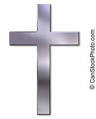 argent, croix