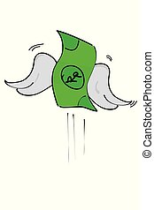 argent, croquis, illustration, main, rupiah, simple, dessiner, perdu, vecteur