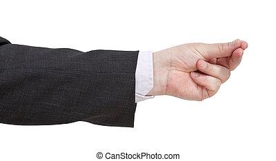 argent, dénombrement, -, geste, main