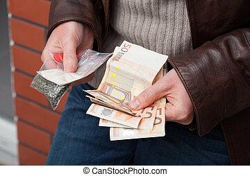 argent, dénombrement, revendeur, drogue