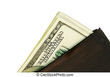 argent, dans, a, portefeuille