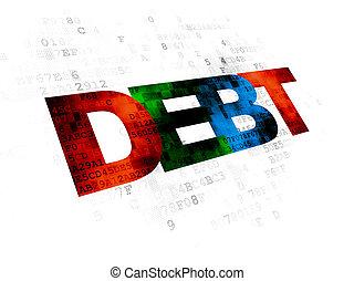 argent, dette, concept:, fond, numérique