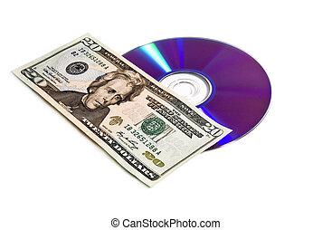 argent, disque, numérique