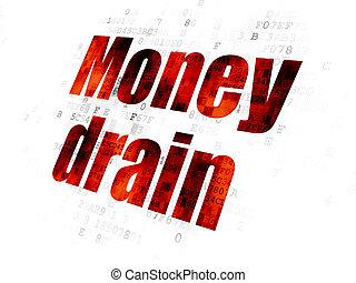 argent, drain, concept:, fond, numérique